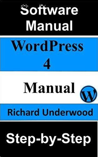wordpress  manual step  step  ebooks
