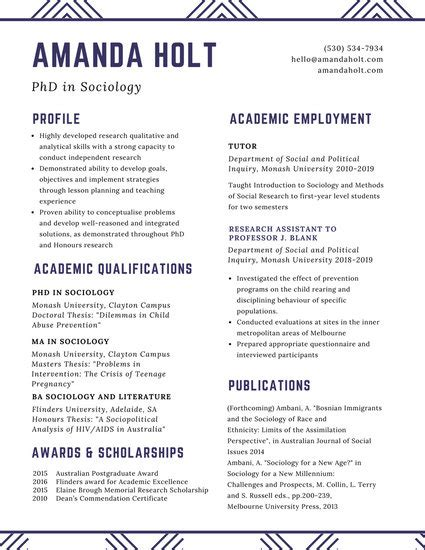 Academic Resume Template by Customize 64 Academic Resume Templates Canva