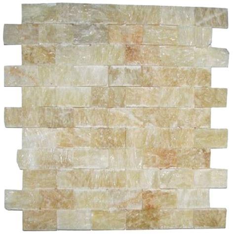 daltile bath accessories honey onyx polished 1x2 splitface mosaic tiles