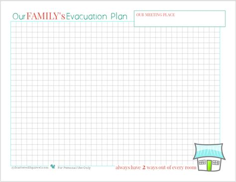 printable fire escape plan safety being prepared for house fires scattered squirrel