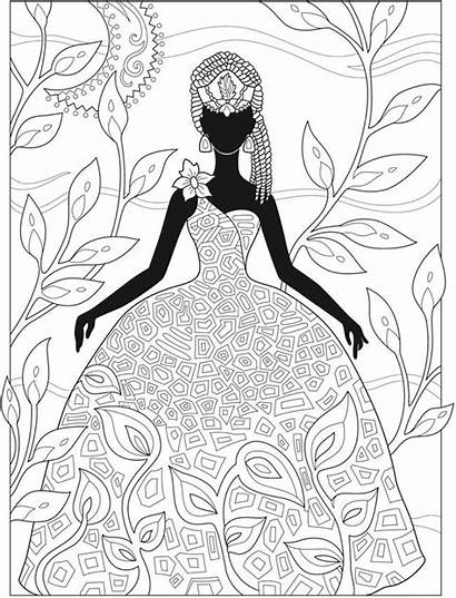 Coloring Pages African Creative Haven Adults Dover