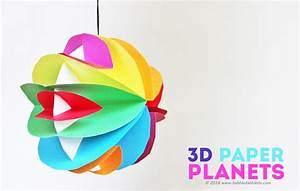 Easy Planet Craft for Kids: 3D Paper Planets