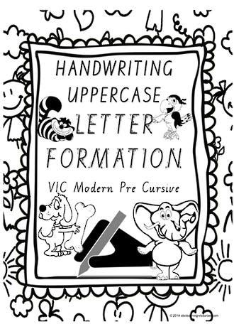 year  handwriting uppercase letter formation vic pre
