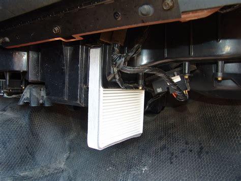 2012 silverado cabin air filter 2000 chevrolet silverado changing the cabin air filters