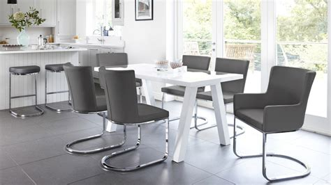 dining table set 6 seater modern 6 seater white gloss dining table set uk
