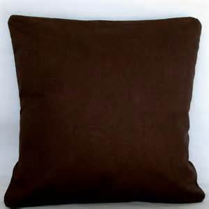 solid brown pillow cover 18x18 or 20x20 inch decorative