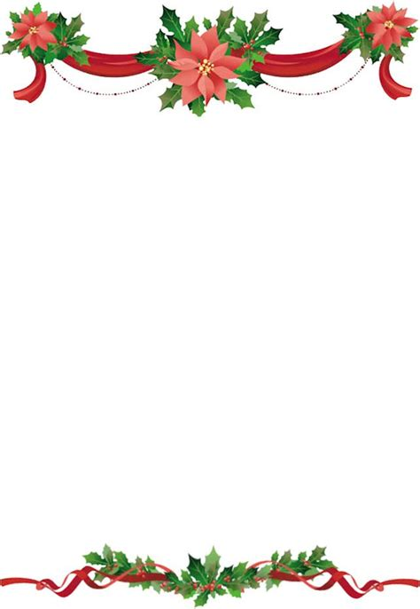 holiday borders  flowers holly  ribbons top