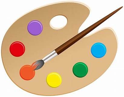 Palette Clip Artist Clipart Transparent Painting Palettes