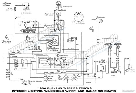 1956 Ford F100 Brake Wiring by 1964 Ford Truck Wiring Diagrams Fordification Info The