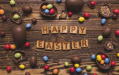 Easter Chocolate Eggs Happy Candy 4k Wallpapers