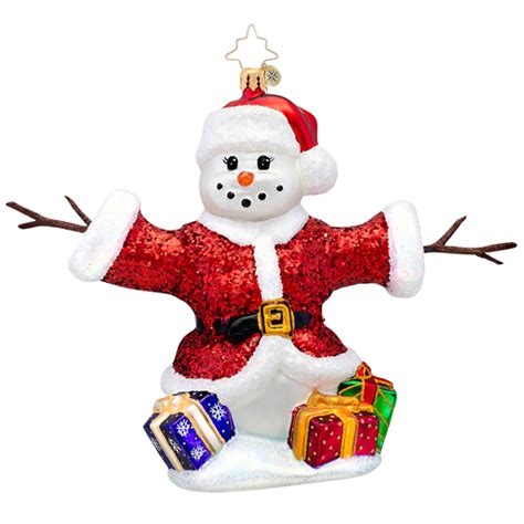 christopher radko holiday huggar snowman ornament