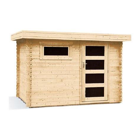 abris bois toit plat pas cher