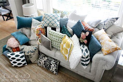 how many throw pillows on a sofa pillow talk jones design company