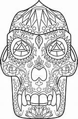 Coloring Skull Sugar Pages Printable Animal Adult Muertos Dia Sheets Los Colouring Dino Print Kidspressmagazine Open Adults Dead Skulls Skills sketch template