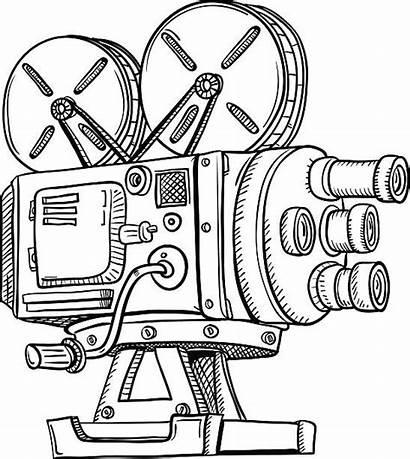 Projector Vector Clip Film Vintag Illustration Illustrations