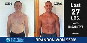 In Just 60 Days of INSANITY, Brandon Lost 27 Pounds! | The ...
