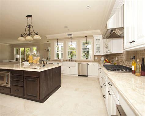Homeofficedecoration  Kitchen White Cabinets Tile Floor