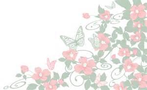 枠 囲みフレーム素材|お洒落なピンクの花と蝶のシンプル背景
