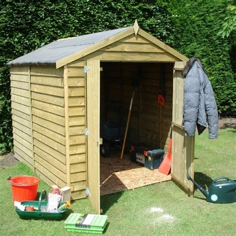shire overlap apex pressure treated shed 6x8 garden