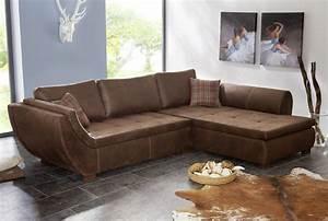 Eckcouch Leder Braun : ecksofa marvella antik braun geschwungene armlehne sofa by fleetz ebay ~ Indierocktalk.com Haus und Dekorationen