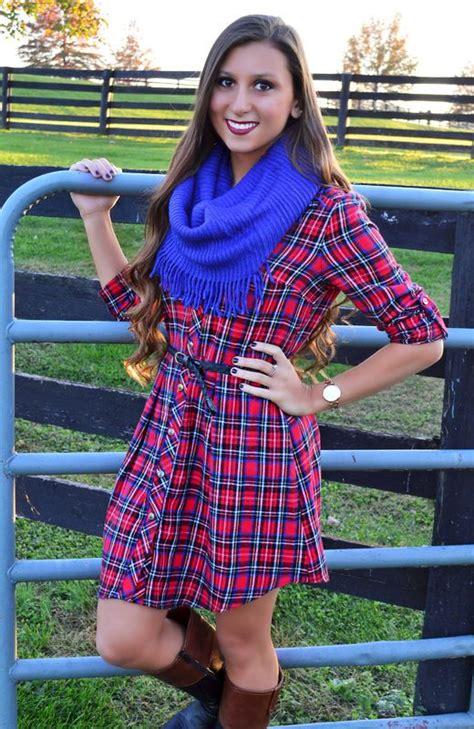 Picket Fence Princess Belted Flannel Dress Flannel Dress