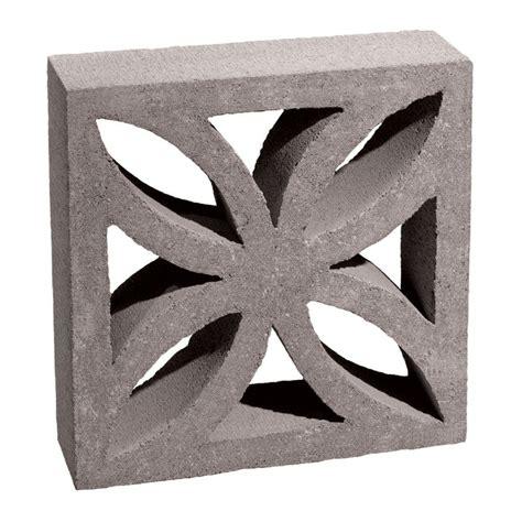 12 in. x 12 in. x 4 in. Gray Concrete Block-100002873