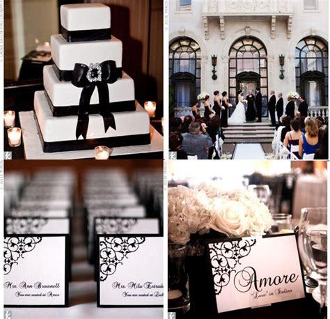 vrai mariage noir et blanc baroque d 233 coration de mariage