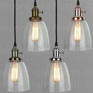 Vintage, Industrial, Ceiling, Lamp, Cafe, Glass, Pendant, Light, Shade, Lighting, Fixture