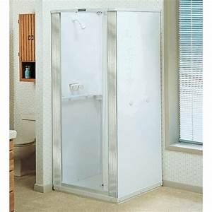 Shower stall photos photos and ideas for How big is a bathroom stall