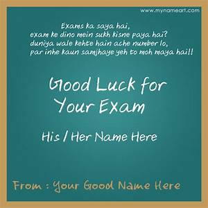 Create Best Of Luck For Exam Card With Name | wishes ...