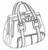 Bag Drawing Sketches Handbag Purses Illustration Drawings Sketch Bags Flat Handbags Double Rourke Emily Pumpkin Framed Leather Draw 3d Sketching sketch template