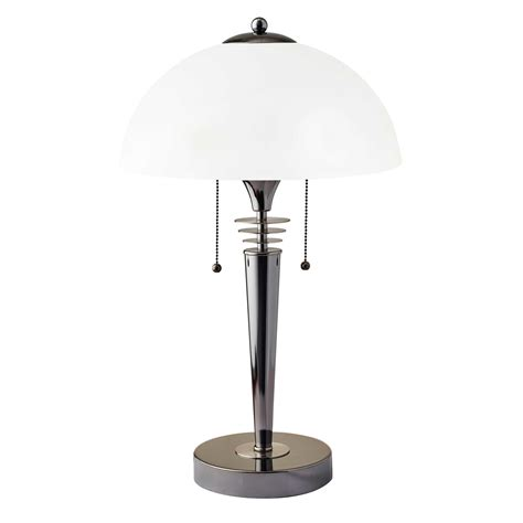 adesso metropolis table lamp  bowl shade  black