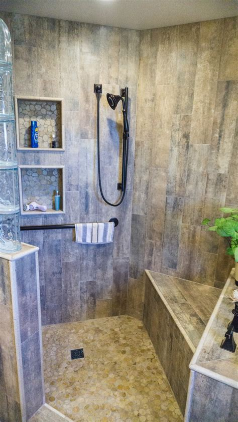 Earthy Wood & Glass Master Bath   Danilo Nesovic, Designer
