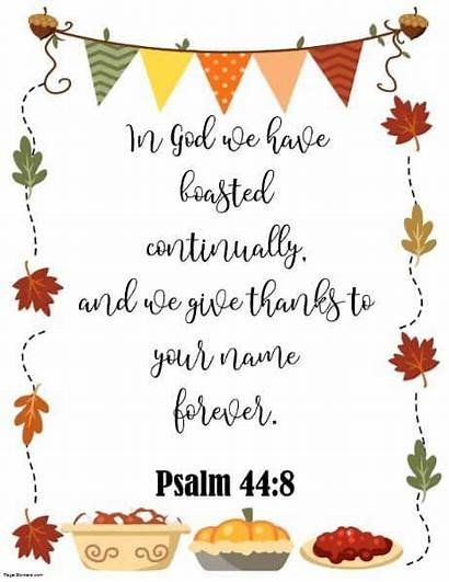 Thanksgiving Bible Quotes Borders Verses Religious Harvest
