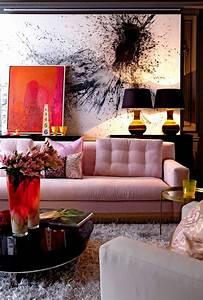 Pink, Sofa, Living, Room, Designs