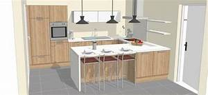 la cuisine en u pour un agencement spacieux et sans With agencement cuisine en l