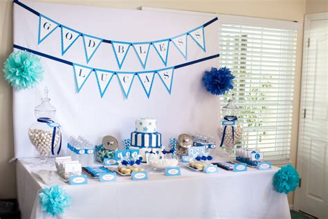 christening decorations for a baby boy supplies partyworld