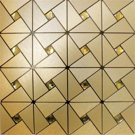 peel  stick tile pinwheel patterns aluminum metal wall