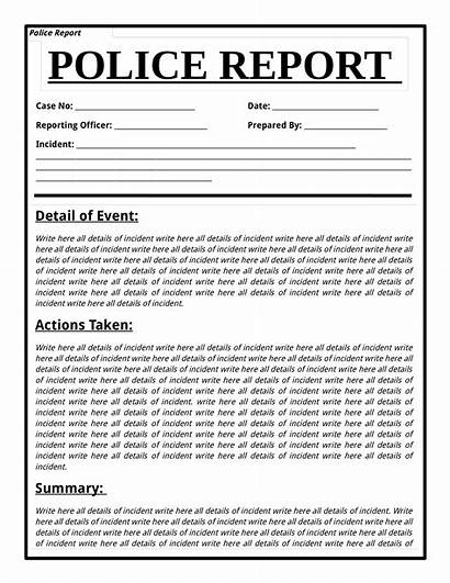 Police Report Template Templates Allbusinesstemplates Incident Form