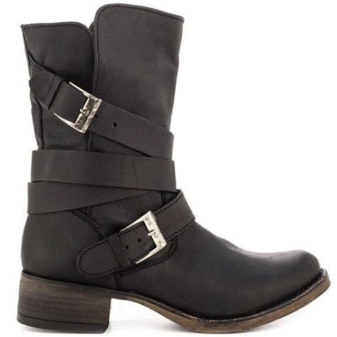 steve madden womens brewzzer black leather slouch
