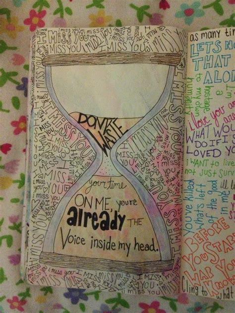blink  doodle lyrics  notebook