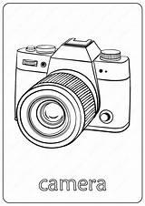 Coloring Camera Pdf Drawn Drawing Coloringoo Outline Draw Cartoon sketch template