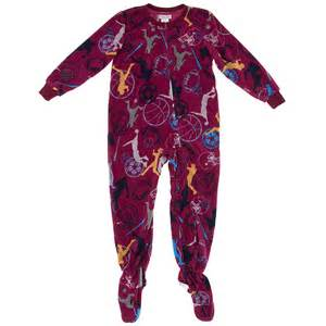 sports footed pajamas for boys
