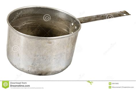 pot cuisine metal food cooking pot isolated on white stock image