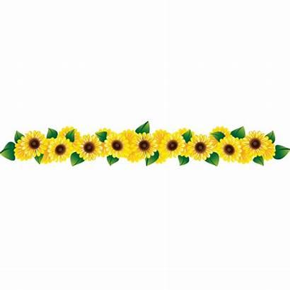 Clipart Row Flowers Flower Clip Girassol Sunflower