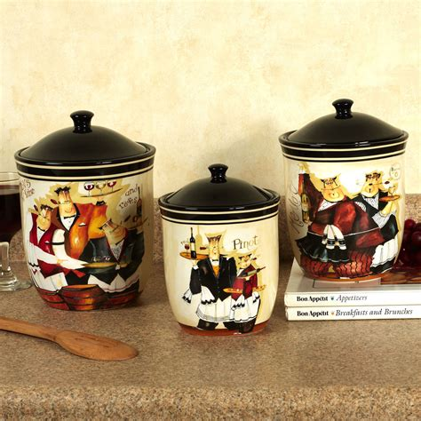 Wine Kitchen Canisters by Days Of Wine Waiters Kitchen Canister Set Canisters