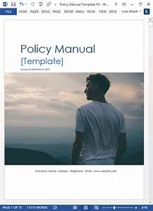 Policy Manual Template  Ms Word  Excel   U2013 Templates  Forms