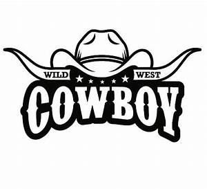 Cowboy Logo #9 Bull Horn Wrangler Horse Country Western ...