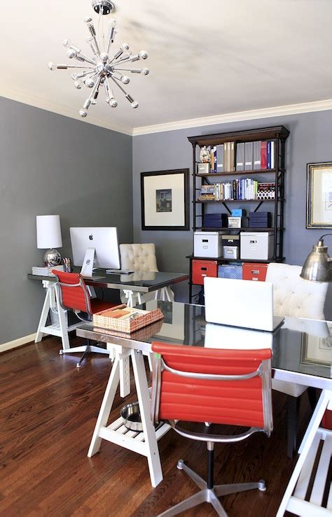 white sawhorse desk contemporary denlibraryoffice