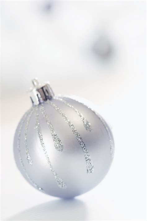 silver christmas ornaments christmas photo 22229586